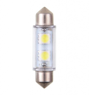 4CARS LED ŽIAROVKA 2LED 12V FESTOON SMD T11X39MM